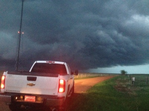 Chasing a tornado in Watford City--as reporters do